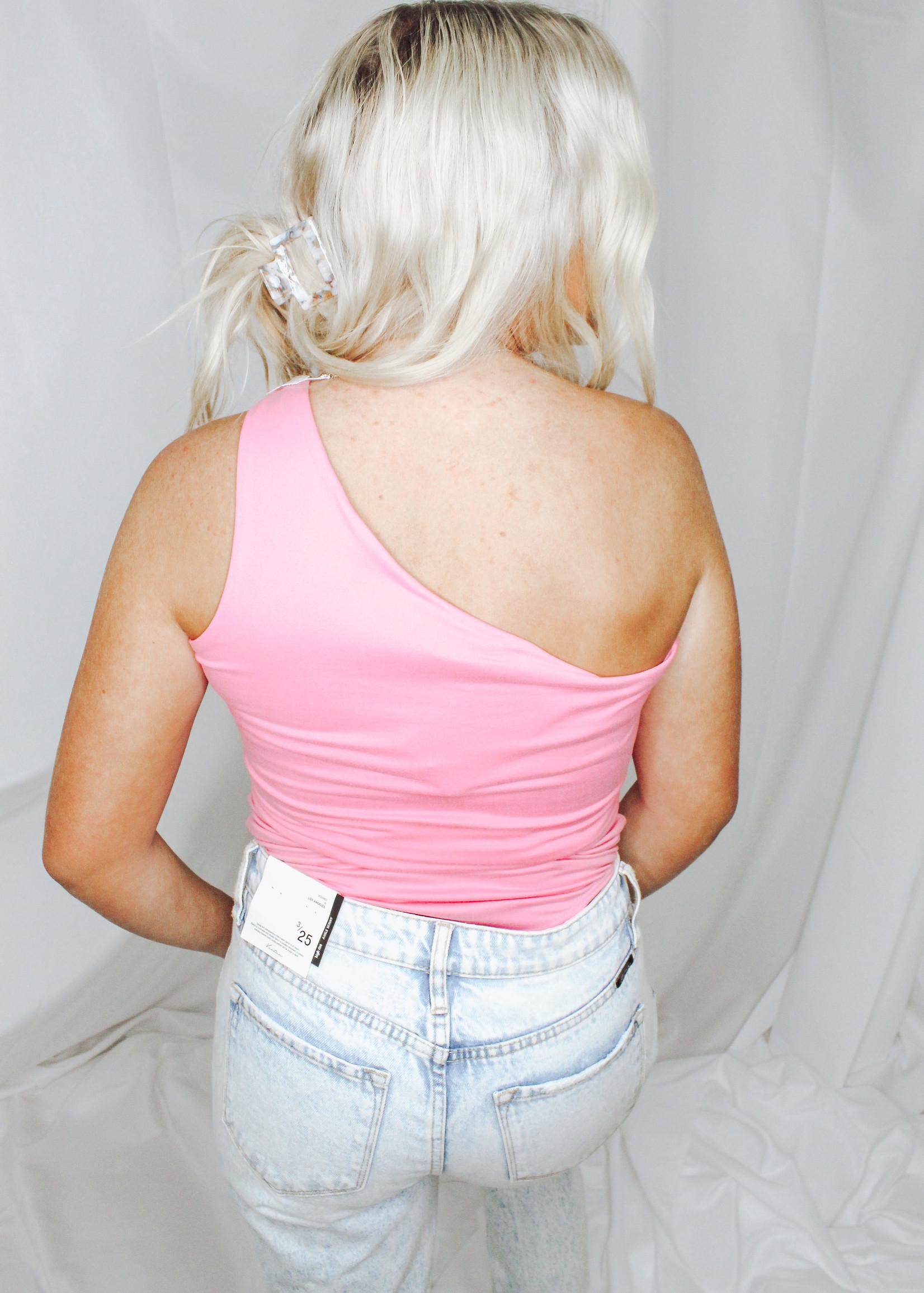Brushed One Shoulder Bodysuit
