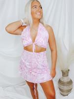 Halter Neck Top w/ Flowy Skirt Set