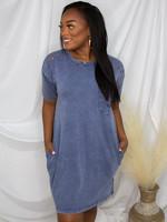 Short Sleeve Terry Knit Dress