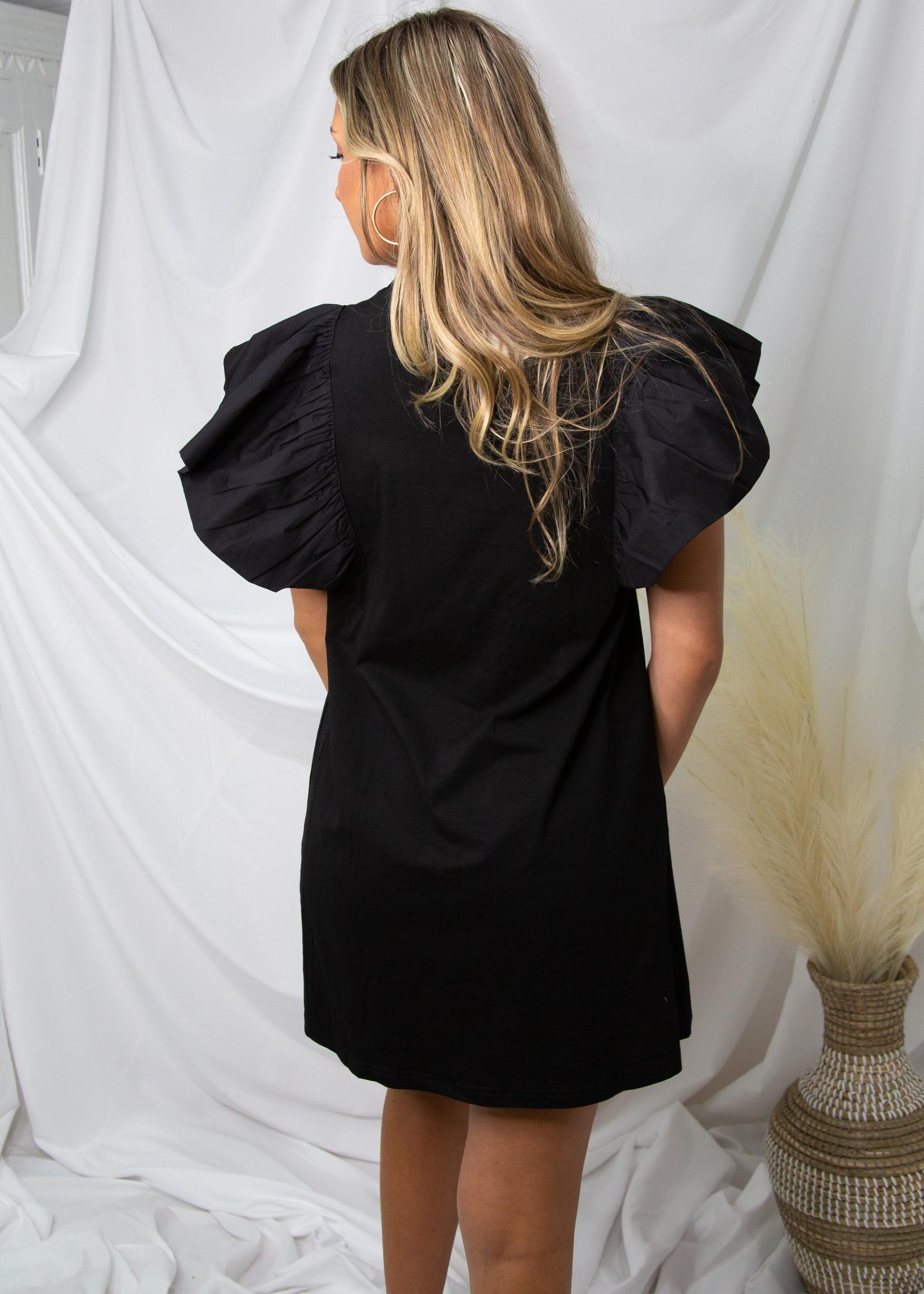 Large Flutter Sleeve Dress