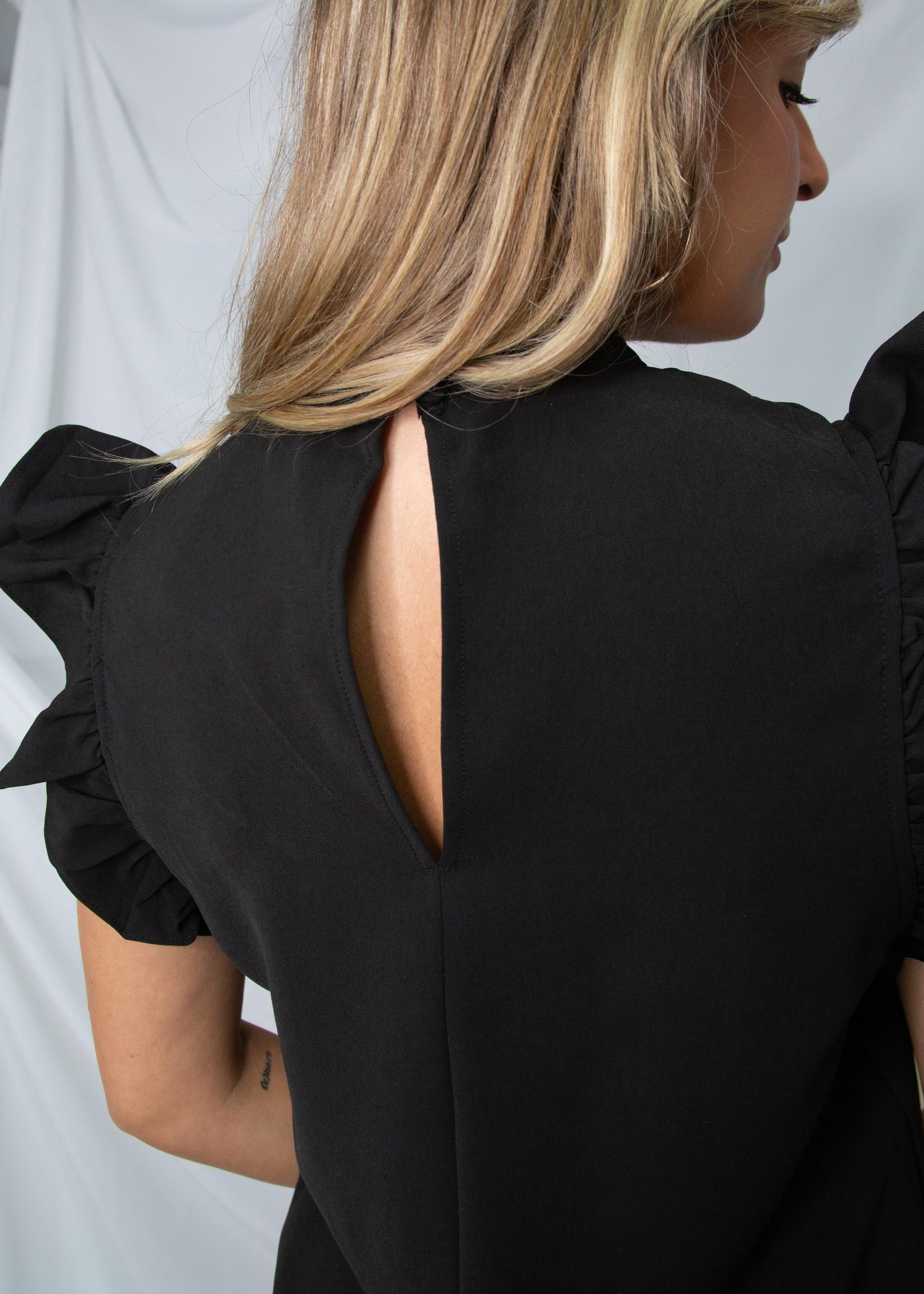 Ruffle Sleeve Flowy Dress