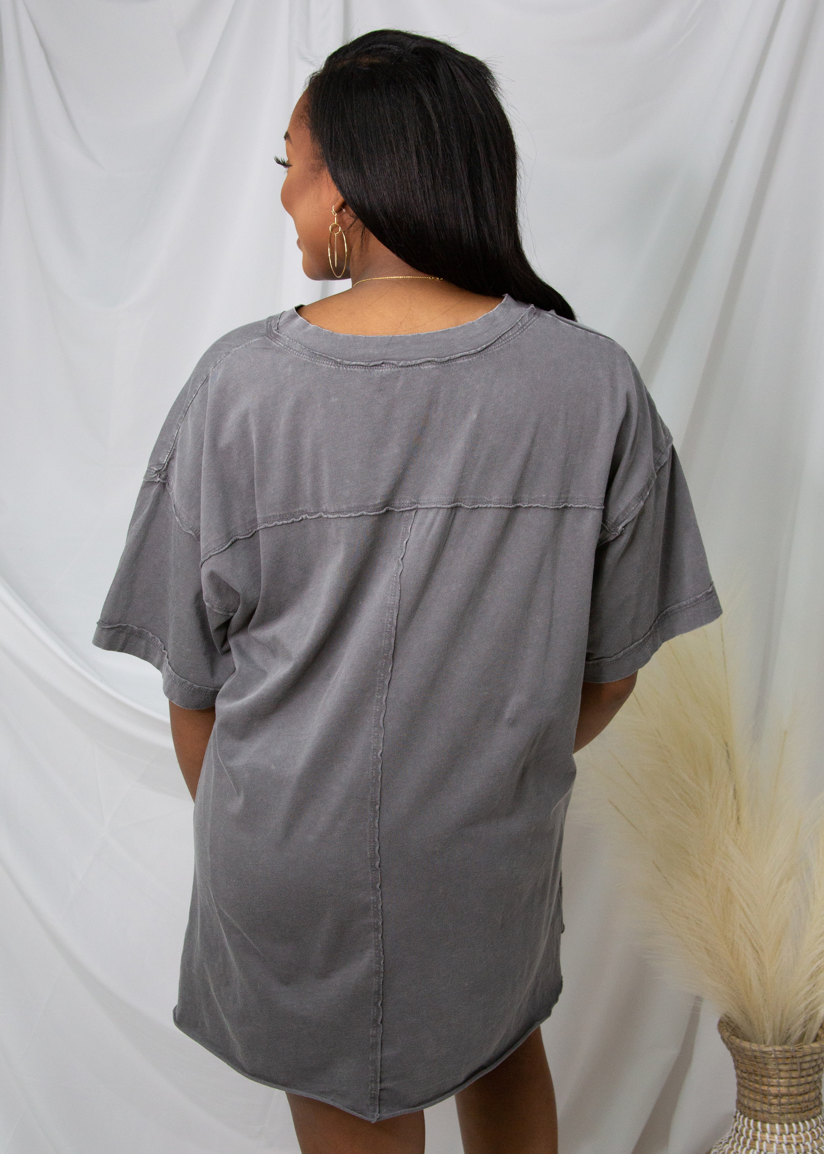 Short Sleeve V-Neck Cotton Top