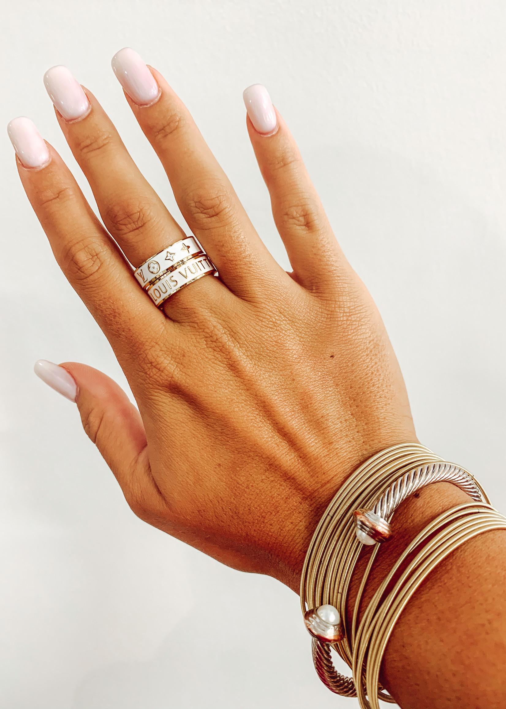 LV Inspired Ring