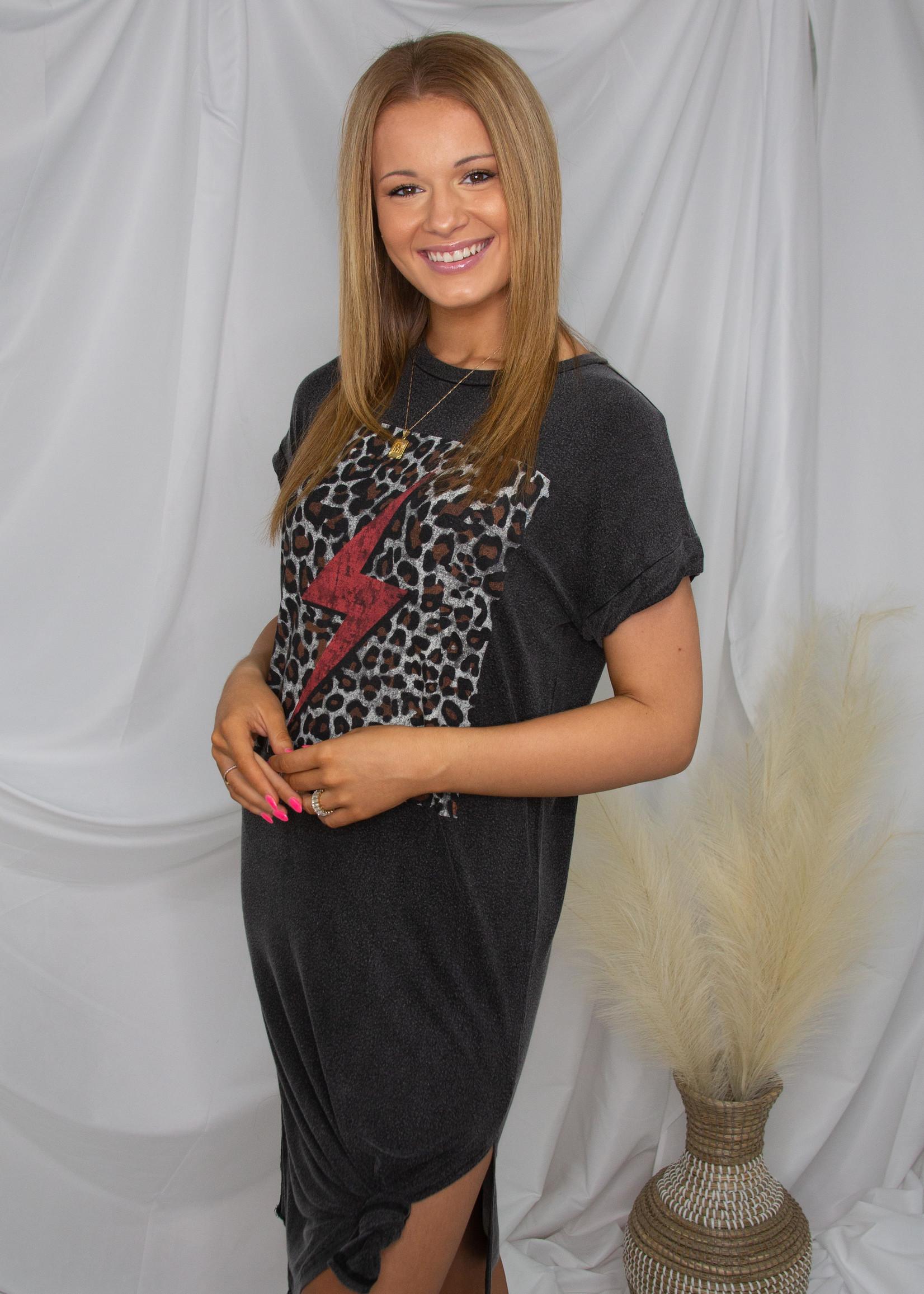 T Shirt Dress With Leopard Print