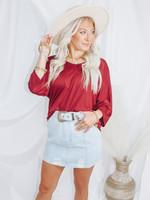 Mini Skirt w/ Buckle Trim