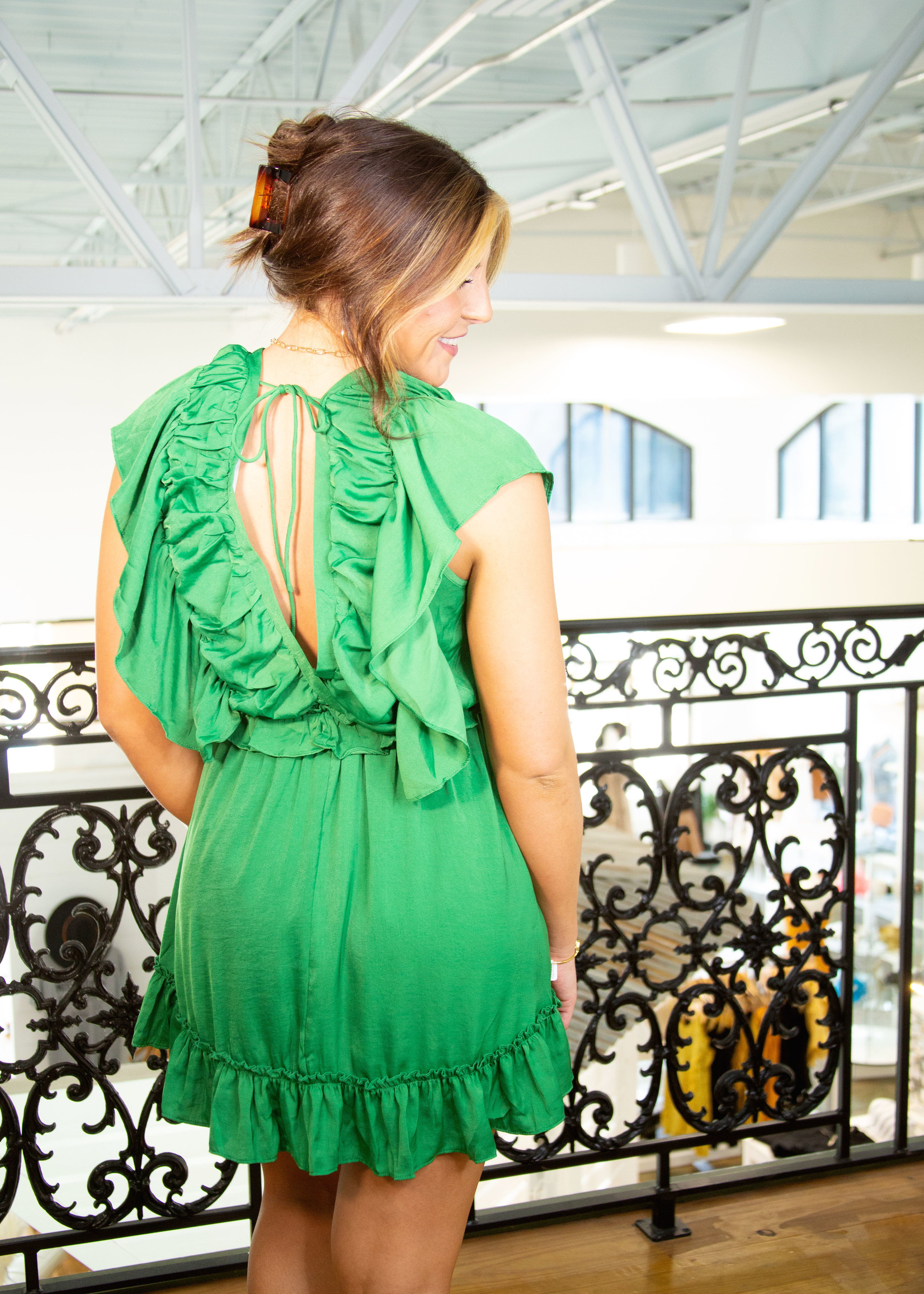 Fit and Flowy Ruffle Dress