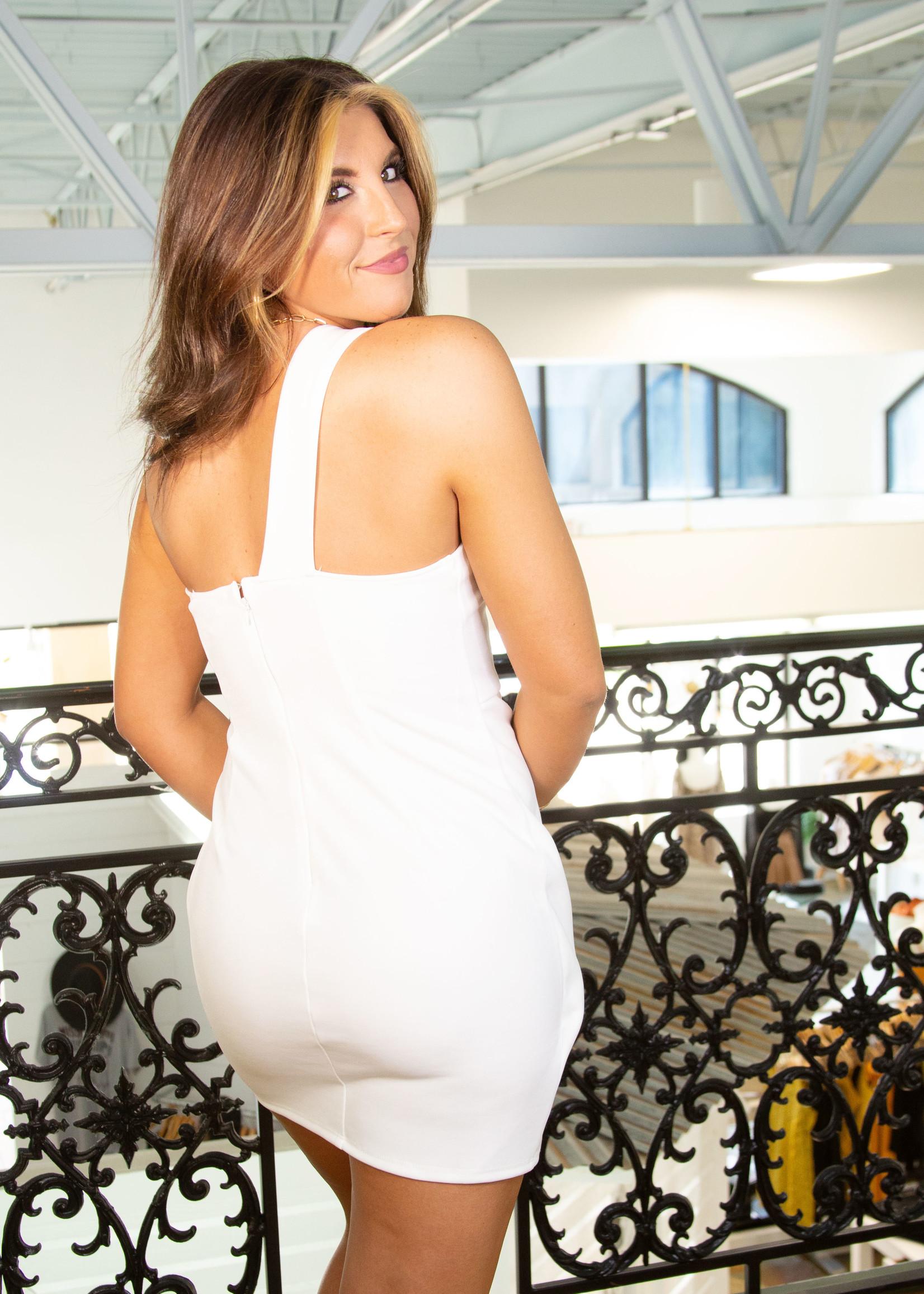 Foled Off shoulder Dress