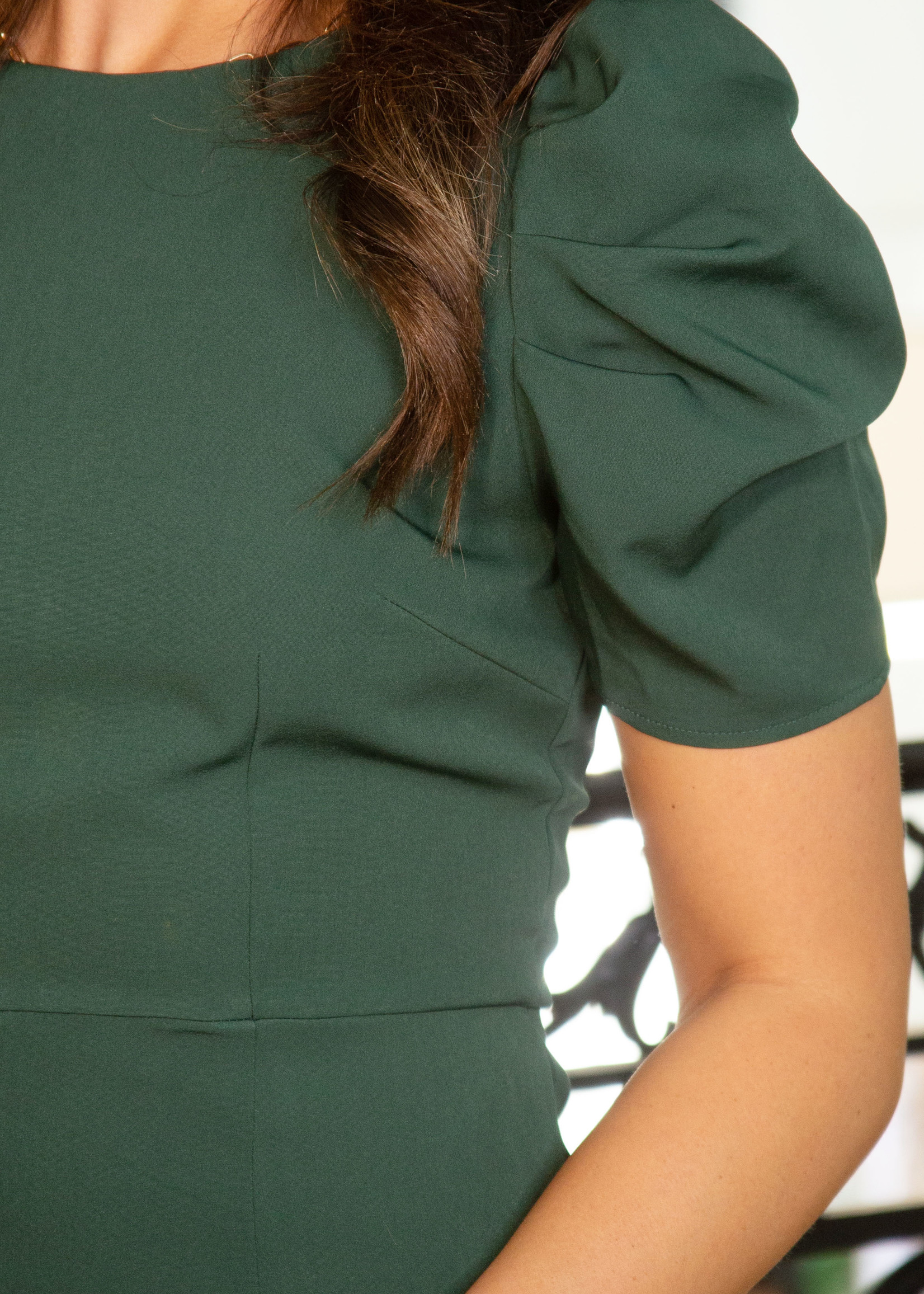 Sinched Sleeve Fitted Dress