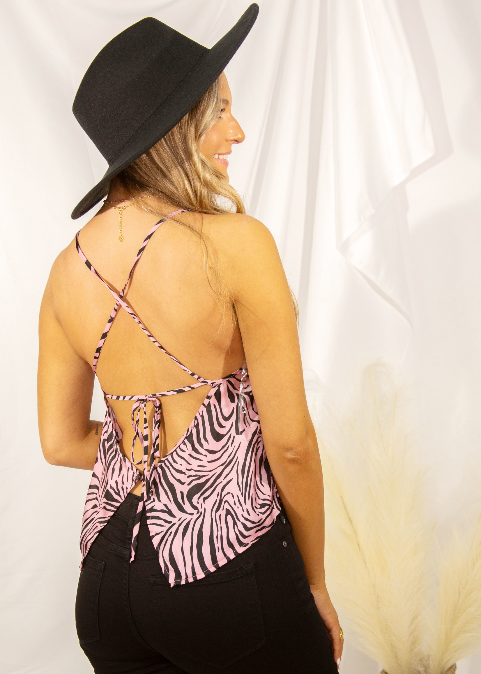 Open Back Cami Top