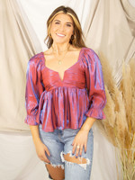 Shimmery Shine LS Top