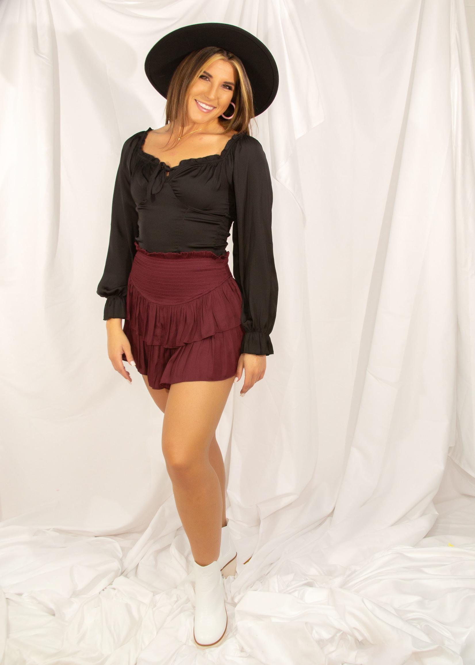 Smocking Skirt With Shorts