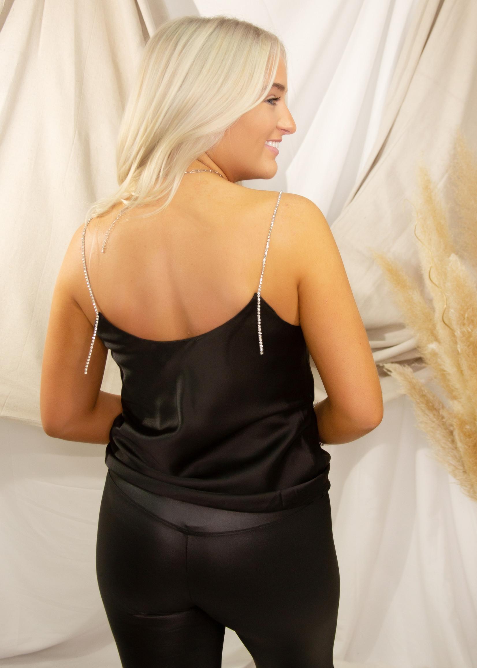 Front Drape Detail Top w/ Stone Straps