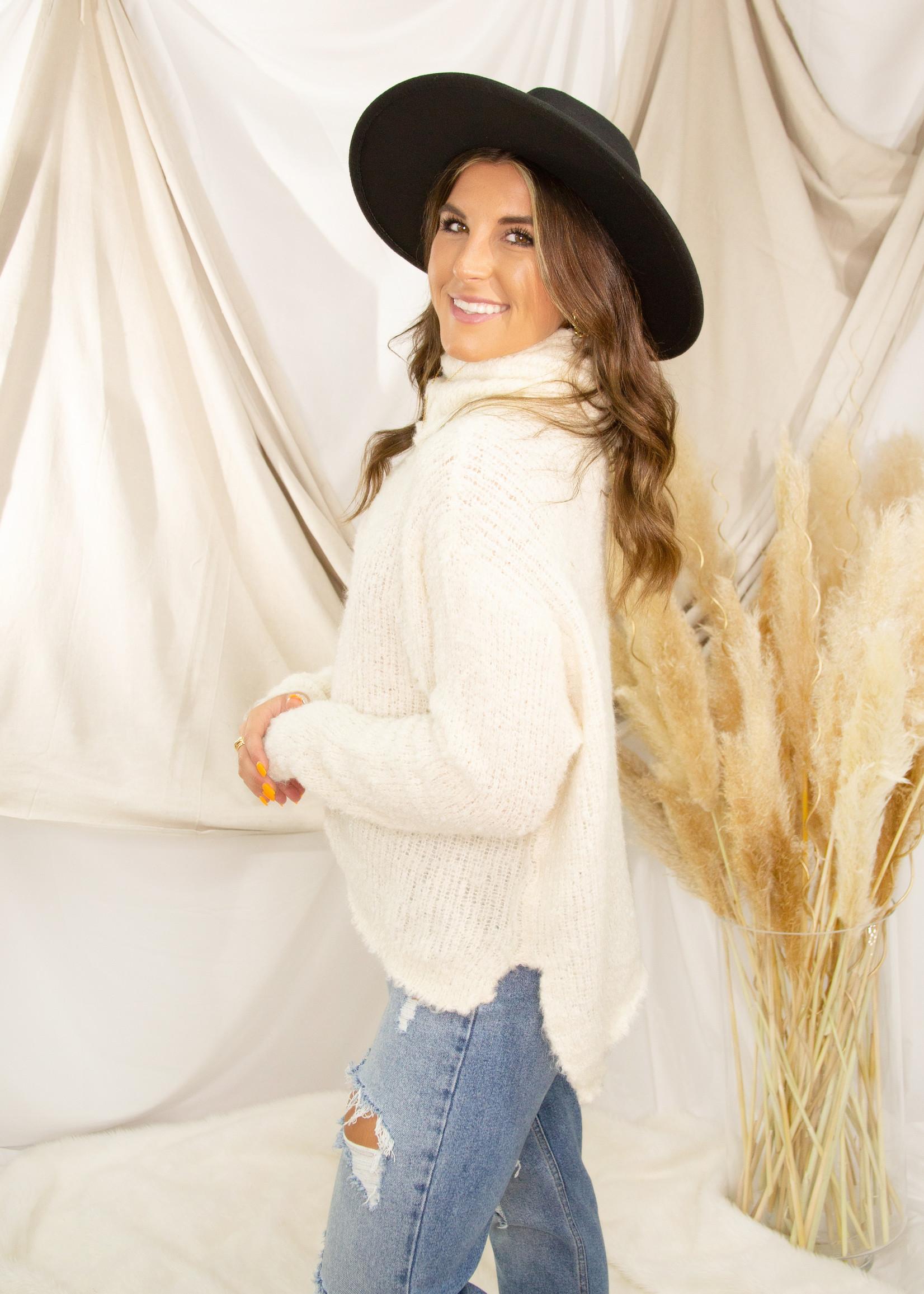 Turtleneck Sweater w/ Slits