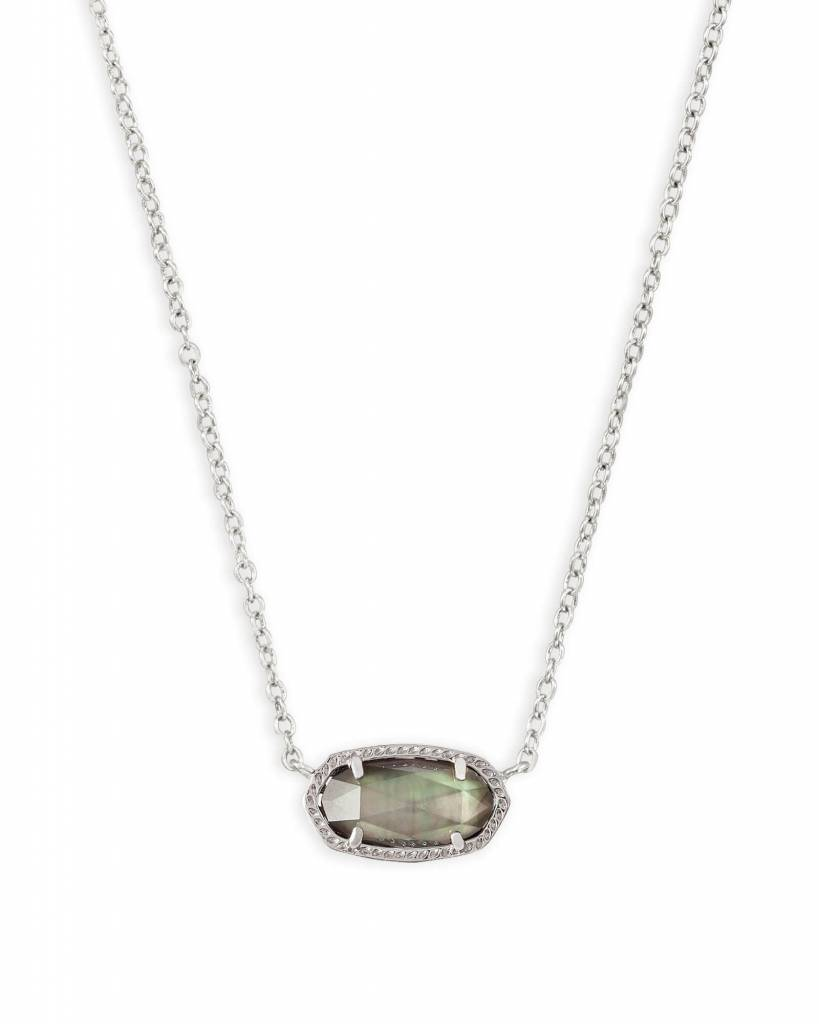 ELISA Rhodium Necklace