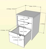 Nexera Chrono 3 pcs Home Office Set, with Extra Desk, Maple and White