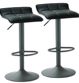 WHi Comet Gas Lift Stool in Black