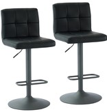 WHi Fusion Gas Lift Stool in Black