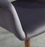 WHi Chaise d'appoint Miranda, Gris