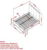 """WHi Nevis 60"""" Platform Bed in Black"""