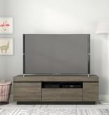 Nexera Lima TV Stand, 60-inch, Bark Grey and Black