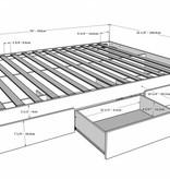 Nexera Malaga 4 pcs Bedroom Set, White, Twin Bed (39'')