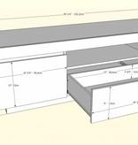 Nexera Cali TV Stand, 60-inch, Walnut and White