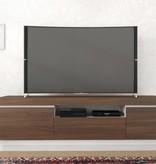 Nexera Cali TV Stand, 68-inch, Walnut and White