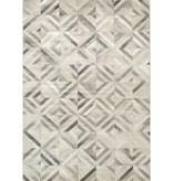 Kalora Alaska Grey White Diamond Squares Rug 7'10'' x 10'6''