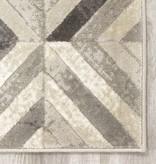 Kalora Alaska Grey White Diamond Squares Rug 2'0'' x 3'7''