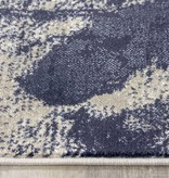 Kalora Alaska Grey Blue Paint Splatter Rug 5'3'' x 7'7''
