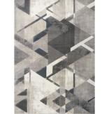 Kalora Alida Grey Blue Triangle Rug 5'1'' x 7'7''