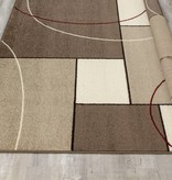 "Kalora Casa Familiar Taupe Cream Rug 5'3"" x 7'7"""