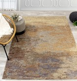 Kalora Cathedral Beige Red Distressed Cloud Rug 5'1'' x 7'7''