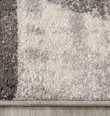 Kalora Focus Grey Cream Distressed Triangles Rug 5'3'' x 7'7''