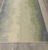Kalora Focus Cream Blue Distressed Banded Rug 5'3'' x 7'7''