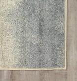 Kalora Focus Cream Blue Distressed Banded Rug 7'10'' x 10'6''