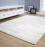 "Kalora Intrigue Cream/Grey Distressed Damask Rug 5'3"" x 7'7"""