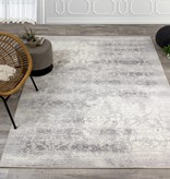 "Kalora Intrigue Cream/Grey Distressed Damask Rug 7'10"" x 10'10"""