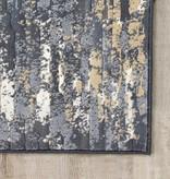"Kalora Intrigue Beige/Blue Distressed Rip Rug 5'3"" x 7'7"""