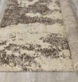 Kalora Lane Cream Brown Distressed Bark Rug 5'3'' x 7'7''