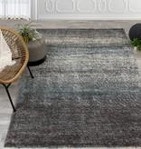 Kalora Maroq Grey/Blue Distressed Stripes Soft Touch Rug 6'7'' x 9'6''