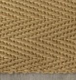Kalora Naturals Jute Beige Herringbone Rug 5'3'' x 7'7''