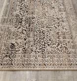 "Kalora Parlour Grey/Brown Distressed Traditional Border Rug 5'3"" x 7'7"""