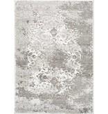 Kalora Platinum Grey White Distressed Traditional Rug 7'10'' x 10'6''