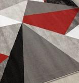Kalora Tapis Platinum Triangles Rouge Gris Noir 6 7 X 9 6 M2go
