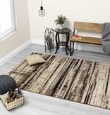 Kalora Platinum Beige Brown Distressed Stripes Rug 5'3'' x 7'7''
