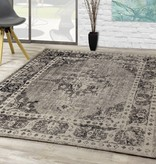 Kalora Sara Faded Traditional Diamond Border Rug 5pi x 7'7""