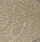Kalora Vista Beige Cream Intricate Sun Design Rug 5'3'' x 7'7''
