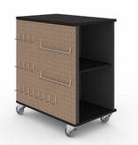 Bestar Lincoln Mobile Storage Cabinet in Black & Graphite