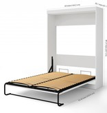 Bestar Edge Queen Wall Bed with 2-Drawer Storage Unit in White